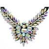 Crystal Motifs Necklace Wings Crystal Aurora Borealis